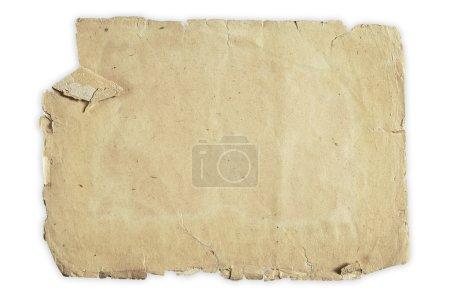 Photo pour Papier Vintage isolé sur fond blanc avec un tracé de détourage - image libre de droit