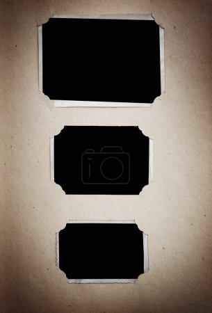Photo album with blank photos
