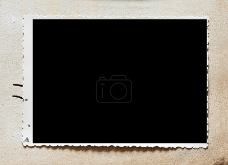 Photo for Vintage photo album with blank photo - Royalty Free Image