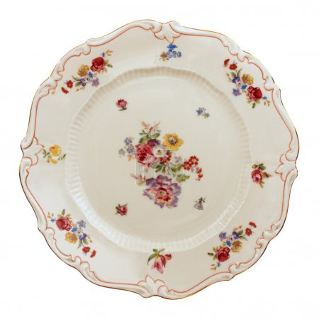 Photo for Antique plate isolated on white background with clipping path - Royalty Free Image