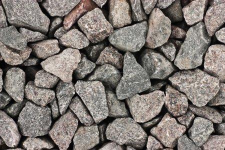 Photo pour Texture du fond de gravier de granit gris écrasé - image libre de droit