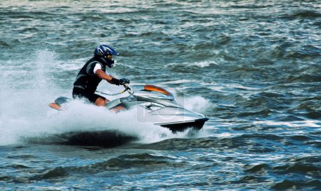 Photo for High speed crazy jet ski water sport - Royalty Free Image