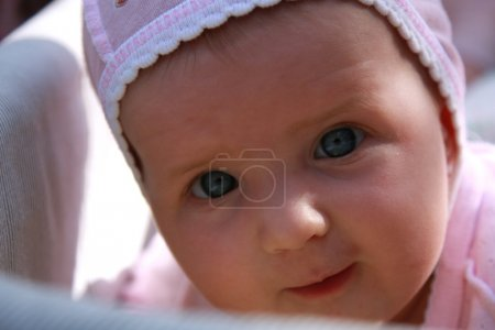 Baby girl with bonnet