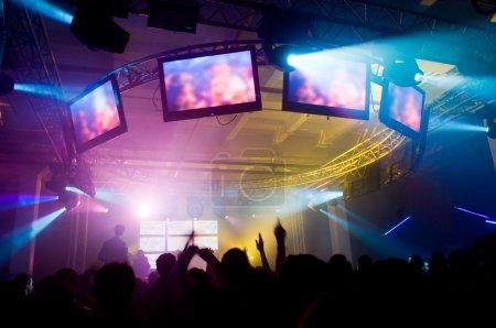Photo pour Lors du concert, flou de mouvement - image libre de droit