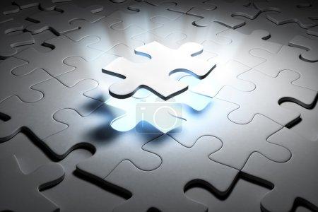 Photo pour Puzzle spécial. Image de rendu 3d . - image libre de droit