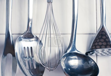 Photo pour Ustensiles de cuisine. ensemble d'outils pour la cuisine. - image libre de droit