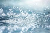 Water splashes closeup