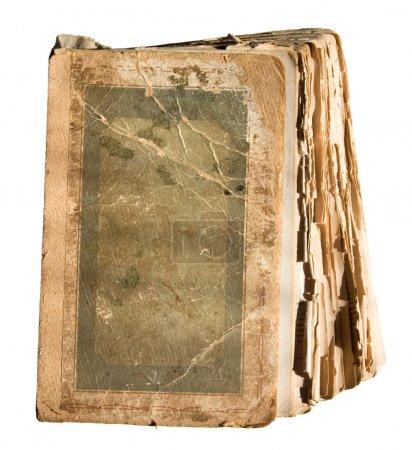 Photo pour Très vieux livre en lambeaux avec des pages . - image libre de droit