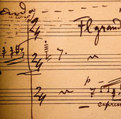 Hand-written musical notation