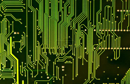 Photo for Computer chip closeup. Texture or background. - Royalty Free Image