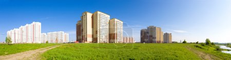 Photo for New buildings panorama. Russia Moscow region. - Royalty Free Image