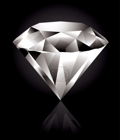 Photo for Shiny and bright diamond on a black background - Royalty Free Image