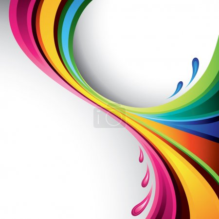 Illustration for A splash of various colors - vector background - Royalty Free Image