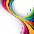 A splash of various colors - vector background...