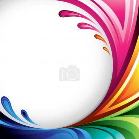 Illustration for A splash of various colors - Background design for your text - Royalty Free Image