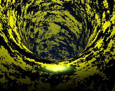 Abstract creative techno tunnel