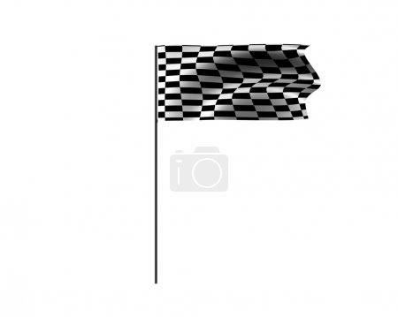 Racing flag isolated on a white