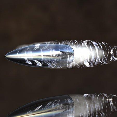 Photo pour Balle volante lumineuse avec piste - image libre de droit