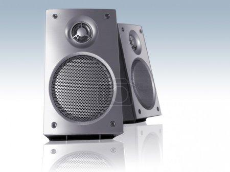 Blue Loudspeakers