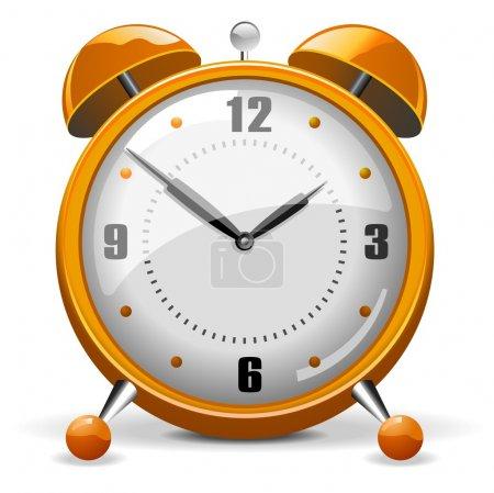 Illustration pour Réveil rétro orange ou cuivre vecteur détaillé - image libre de droit