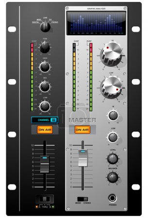 Sound Recording Studio controls set