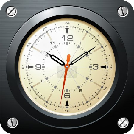 Military airplane clock