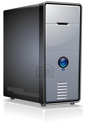 Illustration for Realistic Case of Computer / Server / Workstation - Royalty Free Image