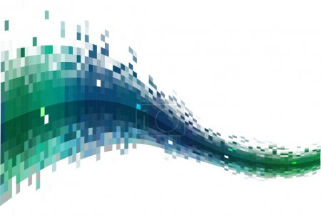 Illustration for Abstract Digital Data stream - Royalty Free Image