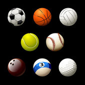 Set of realistic balls on white background