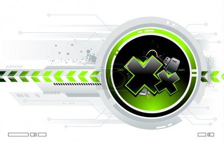 Illustration pour Fond futuriste cool pour votre design créatif - image libre de droit
