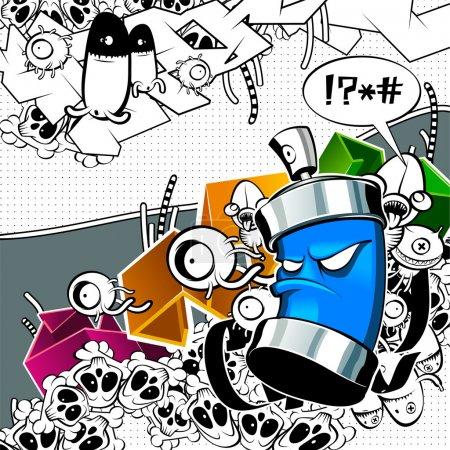 Strange graffiti image