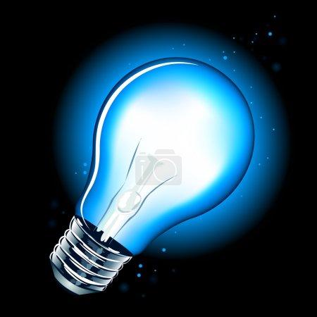 Illustration pour Lampe réaliste sur fond blanc - image libre de droit