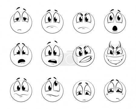 Set of negative smiles-balls