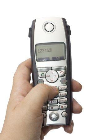 Finger pushing telephone