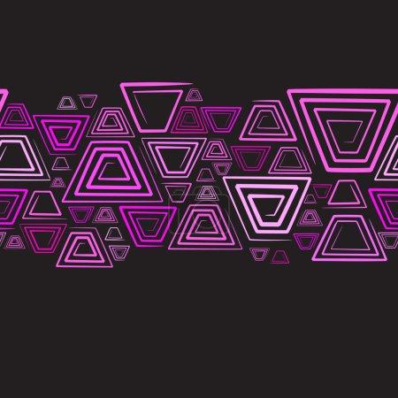 Illustration for Seamless horizontal background. Vector illustration - Royalty Free Image