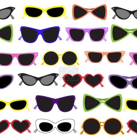 Seamless of solar glasses. Vector illust
