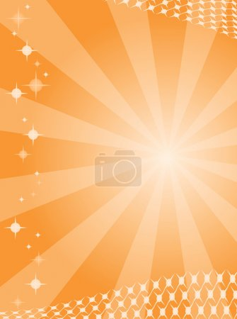 Illustration for Abstract background with raying in orange colour. Vector illustration - Royalty Free Image