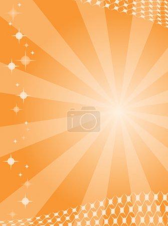 Illustration pour Fond abstrait avec des rayures de couleur orange. Illustration vectorielle - image libre de droit