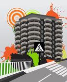 City background Vector illustration