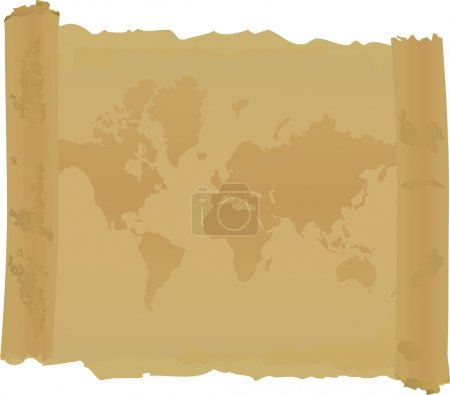 Scroll with map of world