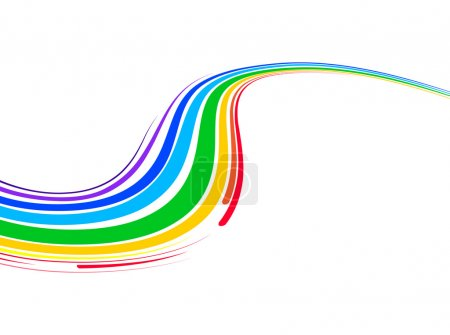 Illustration for Abstract background with multicolored bent lines. Vector illustration - Royalty Free Image