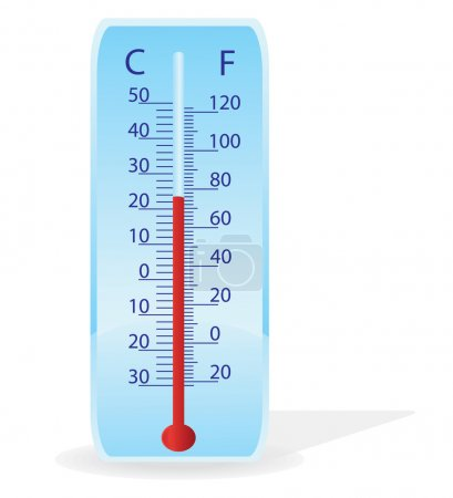 Vector illustration of a thermometer