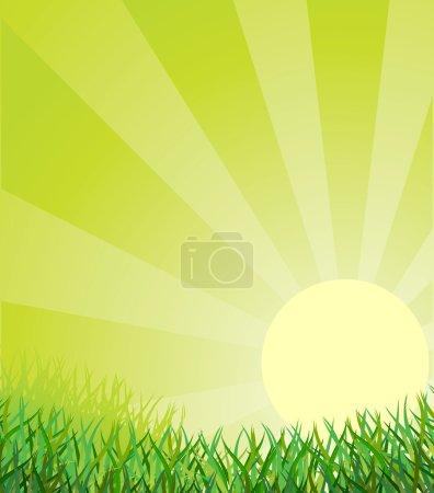 Illustration for Ecological background. Vector illustration - Royalty Free Image