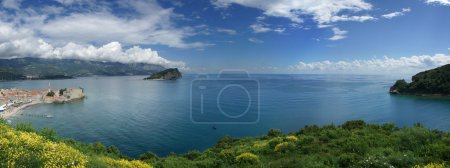Photo pour Panorama de la côte méditerranéenne, l'heure d'été - image libre de droit