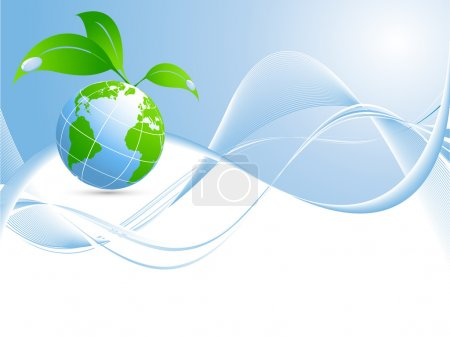 Illustration for Vector environmental background with globe and copy space - Royalty Free Image