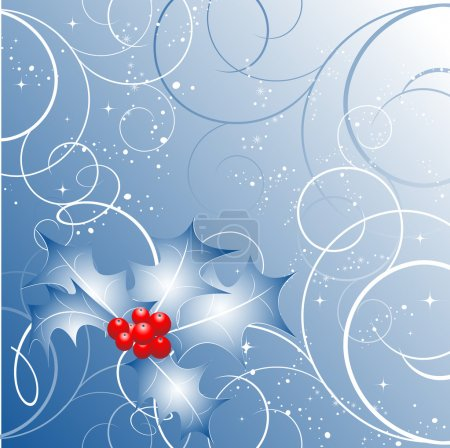 Illustration for Abstract vector Christmas background in blue colors - Royalty Free Image