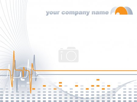 Photo for Abstract vector template for medical treatment company with logo - Royalty Free Image