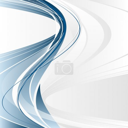 Illustration for Abstract vector modern backdrop with wavy lines and copy space - Royalty Free Image