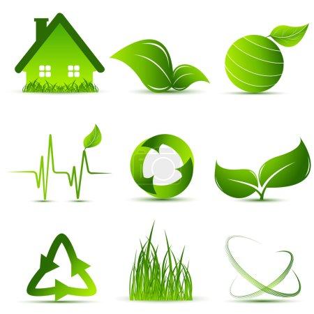 Vector environmental simbols