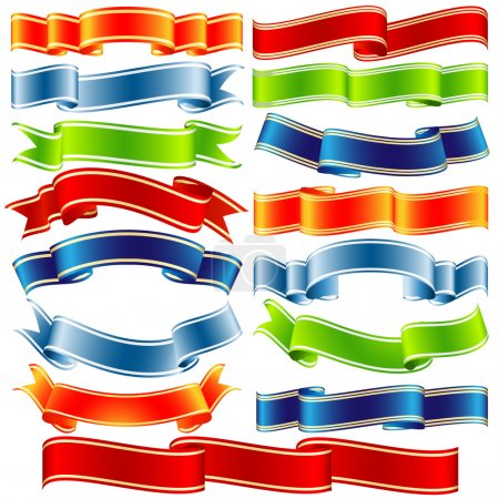 Vector shiny ribbons